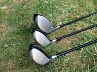 Nike trolly bag with full set of irons and 3 drivers