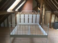 Ikea white queen size double bed