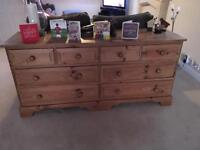 Pine sideboard/chest of drawers