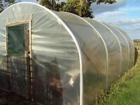 Galvanised steel polytunnel for sale – 6m x 3.7m