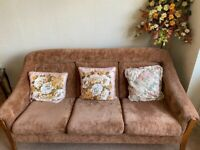 Brown fabric 3 seater sofa COLLECTION ASAP