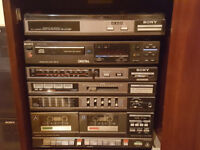 Stereo system Hifi - tuner, record player, CD, tape + speakers