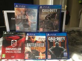 PS4 games bundle excellent cond hardly used