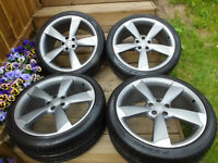 "Set of Genuine 20"" Audi ROTOR wheels with Pirelli P Zero tyres!!!"