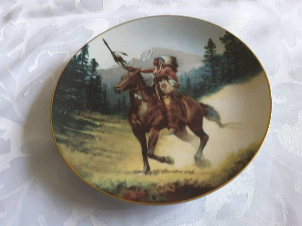 HAMILTON COLLECTION PLATES- AMERICAN RED INDIAN SCENES