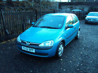 VAUXHALL CORSA 1.0 CLUB 3 DOOR HATCHBACK CD RADIO LONG MOT CHEAP TAX CHEAP TO RUN