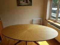 6 Seater Oval Dining Table