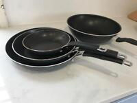 Tefal Wok and 3 Non Stick Frying Pans