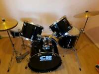 5 piece CB drum kit full size