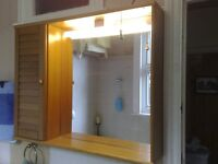 LUXURIOUS BATHROOM CABINET - 90 CENTIMETRES WIDE x 70 CENTIMETRES HIGH - STRONG LIGHTING -