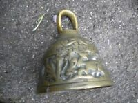 OLD BRASS BELL 5X4 INCHES