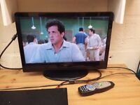 22 inch wide screen lcd tv with built in free view and remote