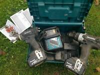 makita BRAND NEW DLX2005MBJ TWIN PACK LIMITED EDITION BLACK impact driver drill
