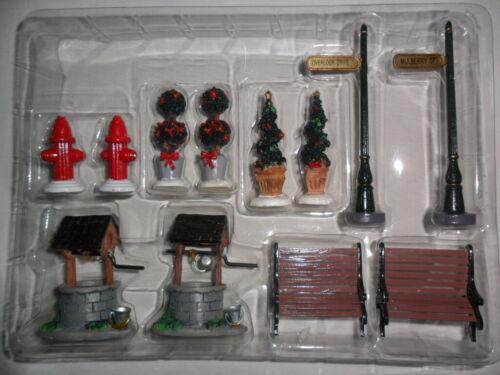 Set of 12 Village Accessories Christmas Winter Glen by Dillards Lot