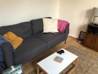 Modern grey 2 seater sofa: Milo from MADE, barely used