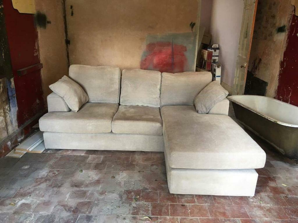Next Grey/Beige 3 Seater Corner Sofa