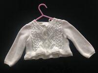 Brand new NEXT baby girls cream cardigan