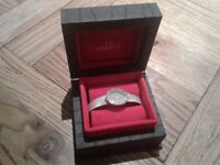 Ladies Omega Watch - Solid 18kt white Gold & 1.3ct Diamonds - RARE