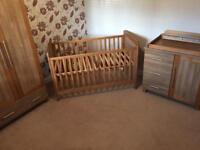 Babystyle 4 Piece Oak Nursery Furniture Set