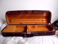 2 X Roland Baumgartner Switzerland Violin Size 4/4 Canvas Covered Wood Hard Cases x 2
