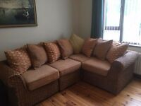 Glengormly. Immaculate, modern corner suite ideal for a conservatory. £250 ono.