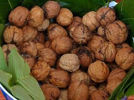 1 KG of BEST English Wet Walnuts, FREE Walnut Leaves