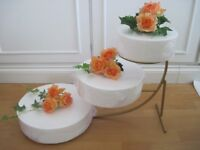 3 tier graduated cake stand