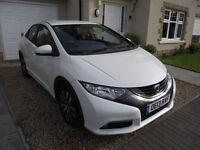 Honda Civic Hatchback 1.6 Diesel I-DTec-ES - Excellent car, low mileage, white, hatch
