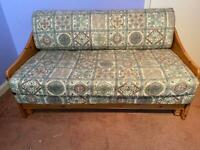 Pine framed double sofa bed
