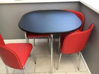 Hygena table and chairs.