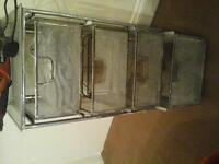 rustic steel mesh drawers