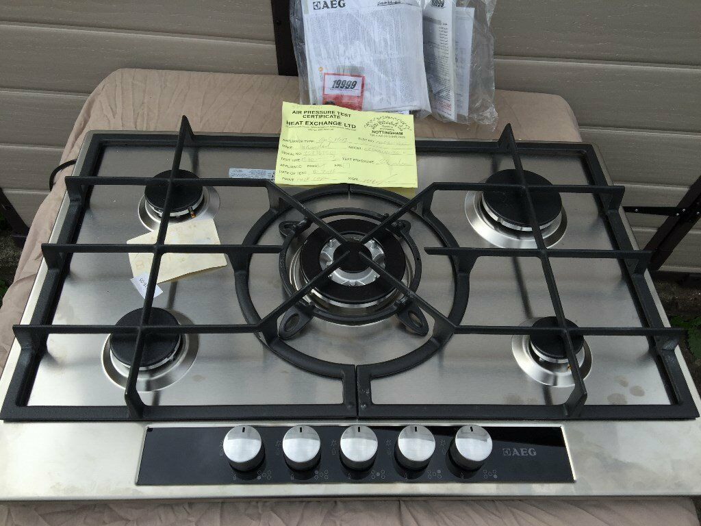 aeg 5 burner gas hob stainless steel brand new in ilford. Black Bedroom Furniture Sets. Home Design Ideas