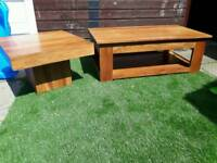 TV stand and coffee table solid mango wood