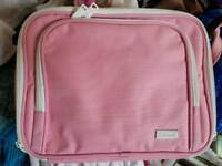 Small pink laptop/tablet bag