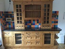 Pine country kitchen dresser