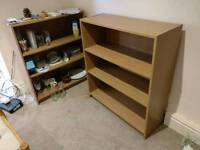 Two small bookcases