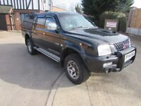 mitsubishi l200 warrior no vat tidy for year with leather