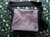 Lassig changing bag, purple, good used condition, clean