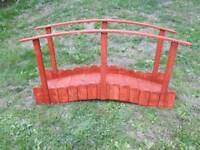 Wooden Ornamental Garden Bridge - Red Cedar