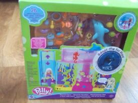 """Polly Pocket by Mattel, """" Polly and dolphin spin while fish swim"""""""