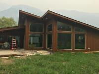 Brand new waterfront home for rent in Slocan park
