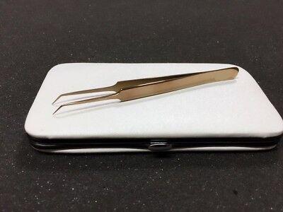 45 Degree Angle Needle Nose Volume Tweezers Eyelash Extension Tweezers With Case 45 Degree Angle Needle Nose