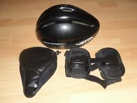HELMET, KNEE PADS AND BIKE SEAT UNISEX