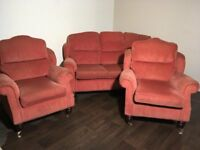 Terracotta suite. 3,1,1 Free delivery 20 mile radius of Belfast.