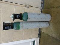 2 x pub gas bottles