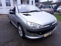 Peugeot 206 cc Convertible. MOT October 2018. Low miles, Half Leather. Working Roof. Just £425 ovno.
