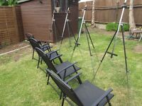 SET OF 4 ARTISTS EASELS AND CHAIRS - IDEAL FOR ART CLUBS, SCHOOLS ETC