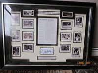 Framed Arsenal Signed Charlie George's Arsenal Dream Team of 26 May 2008