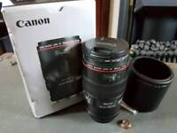 Canon 100mm F2.8 Prime Macro L IS Lens with hoya filter