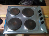 Electric hob. stainless steel